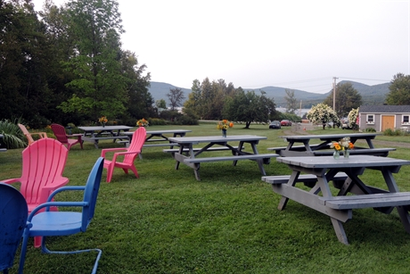 Use our picnic tables for the occasion