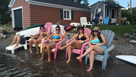 Girls- afternoon-out at Green Acres Cabins beach